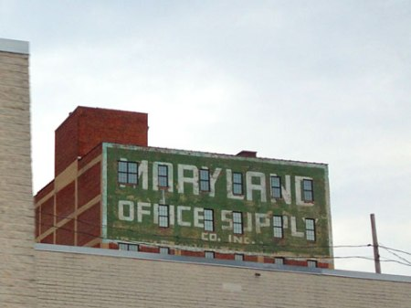 Maryland Office Supply Co. Inc. Ghost Sign in Baltimore