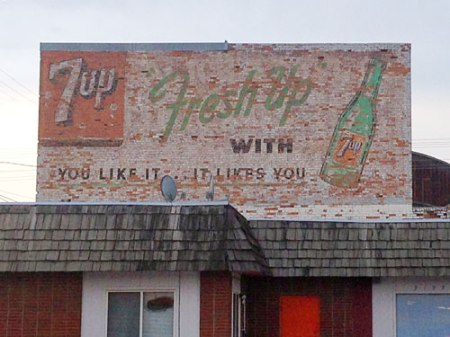 Fresh Up with 7up Ghost Sign in Billings, MT