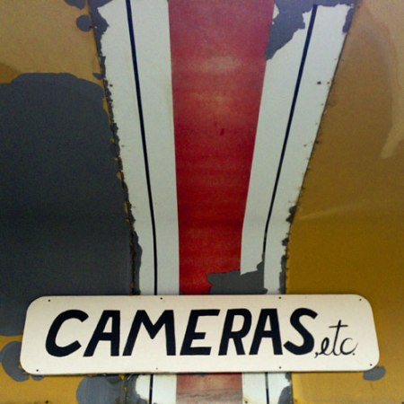 Cameras, Etc. Ghost Sign in Billings, MT