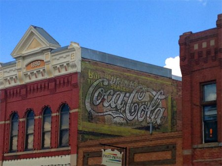 Coca-Cola Ghost Sign in Livingston, MT