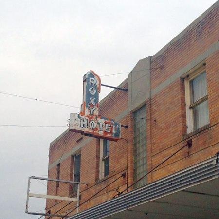 Roxy Hotel Ghost Sign in Billings, MT