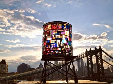 Watertower by Tom Fruin