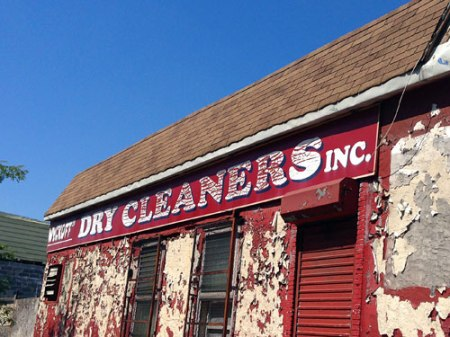 """""""Wyckoff"""" Dry Cleaners Inc. Ghost Sign in NYC"""