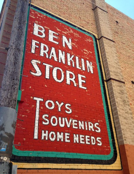 Ben Franklin Store Ghost Sign in Rapid City, SD