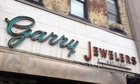 Garry Jewelers Ghost Sign in Brooklyn