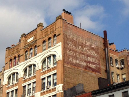Real Estate Ghost Sign in NYC