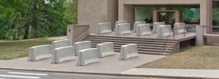 Barrier by Type A at the Johnson Museum of Art, Cornell University