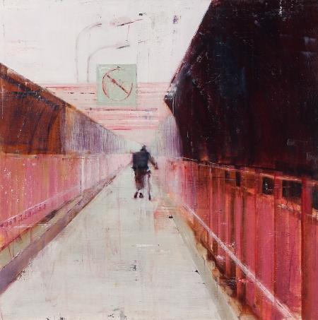 Williamsburg Bridge 7-8am (Waiting #175) by Brett Amory