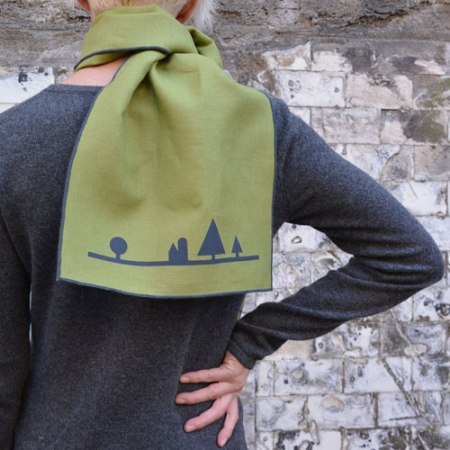 Patterned Landscape Scarves by VisuaLingual