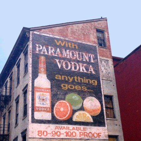 Paramount Vodka Ghost Sign in Over-the-Rhine