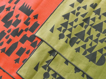 Patterned Town and Country Landscape Scarves by VisuaLingual