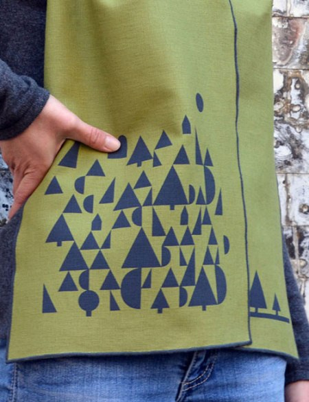 Geometric Landscape Scarf by VisuaLingual