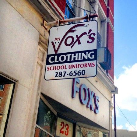 Fox's Clothing Ghost Sign in Cincinnati