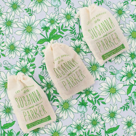 VisuaLingual Seed Bomb Favors in Southern Weddings Magazine