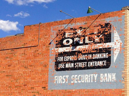 First Security Bank Ghost Sign in Livingston, MT