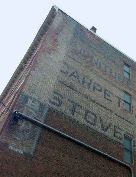 Furniture Carpets Stoves Ghost Sign in Newport, KY