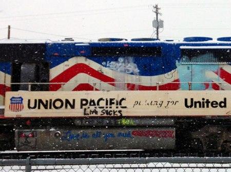 Union Pacific train in Denver