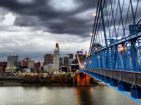 A Perfect Twilight in Cincinnati