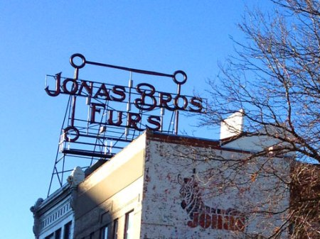 Jonas Bros. Furs Ghost Sign in Denver