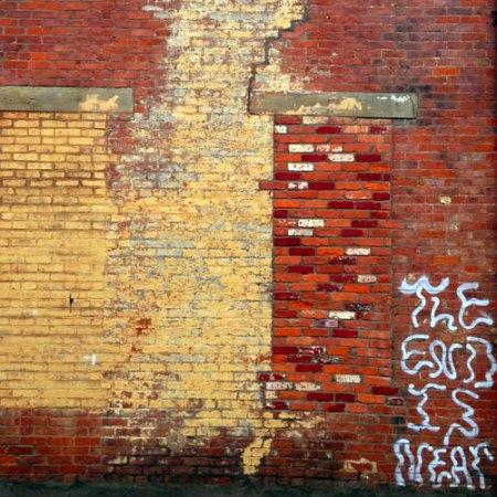 doomsday graffiti in Over-the-Rhine, Cincinnati
