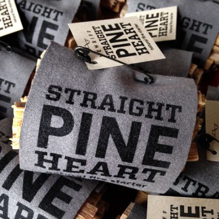 VisuaLingual Products for New Riff Distilling: Straight Pine Heart