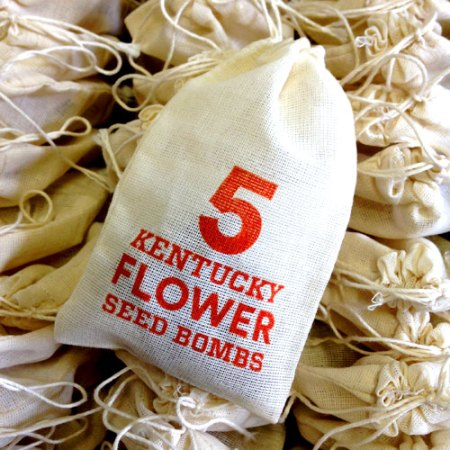 VisuaLingual Products for New Riff Distilling: Kentucky Flower Seed Bombs