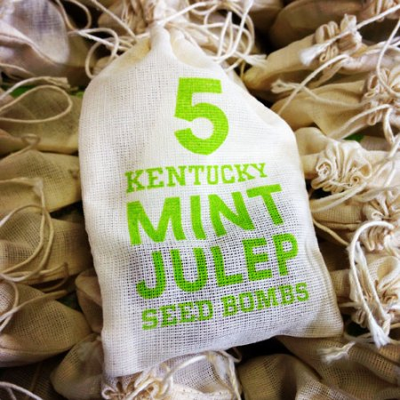 VisuaLingual Products for New Riff Distilling: Mint Julep Seed Bombs