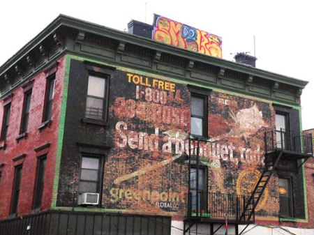 Greenpoint Floral Co. Ghost Sign in Brooklyn