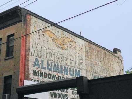 Mode Eagle Aluminum Window & Door Mfrs. Ghost Sign in Brooklyn