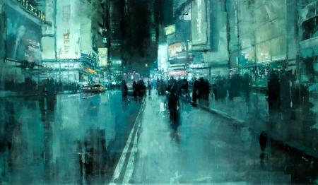 7th Avenue Night by Jeremy Mann