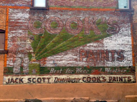 Cook's Paints Ghost Sign in Denver