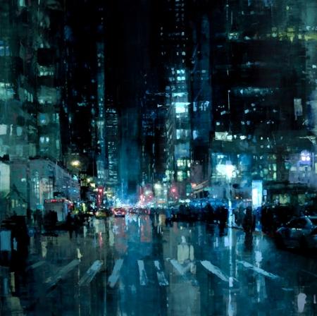 Manhattan Nights by Jeremy Mann