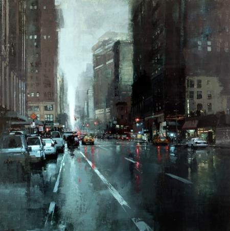 New York Rains by Jeremy Mann