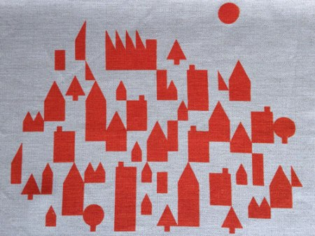 Patterned Town and Country Landscape Tea Towels by VisuaLingual