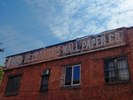Decorators Wall Paper Co. Ghost Sign in Cincinnati