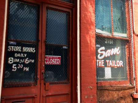 Sam the Tailor Ghost Sign in Cincinnati
