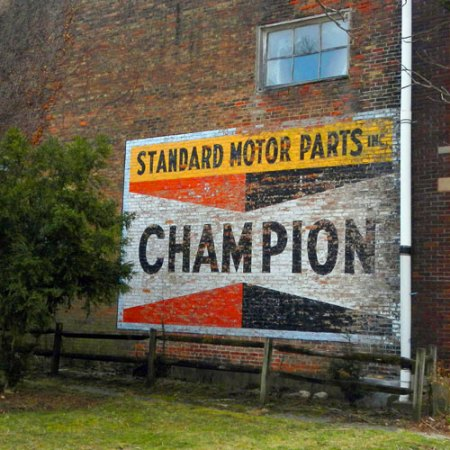 Champion Standard Motor Parts Ghost Sign in Brookville, IN