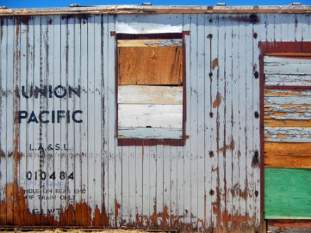 Union Pacific ghost sign in Kelso, CA