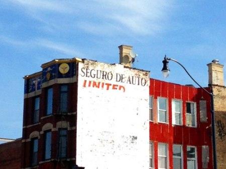 Seguro de Auto/United Ghost Sign in Chicago