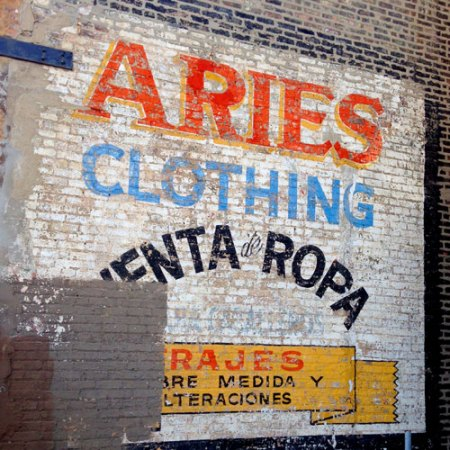Aries Clothing Ghost Sign in Chicago