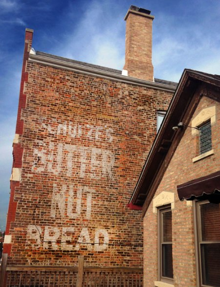 Schulze's Butter Nut Bread Ghost Sign in Chicago