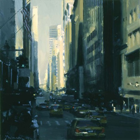 Midtown Taxis by Ben Aronson