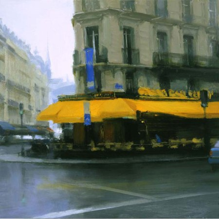 Yellow Awning, Paris by Ben Aronson