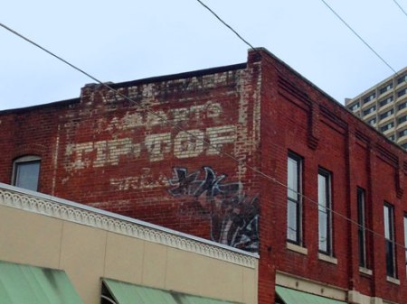 Tip Top Ghost Sign in Indianapolis