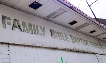 Family Bible Baptist Church Ghost Sign in Indianapolis