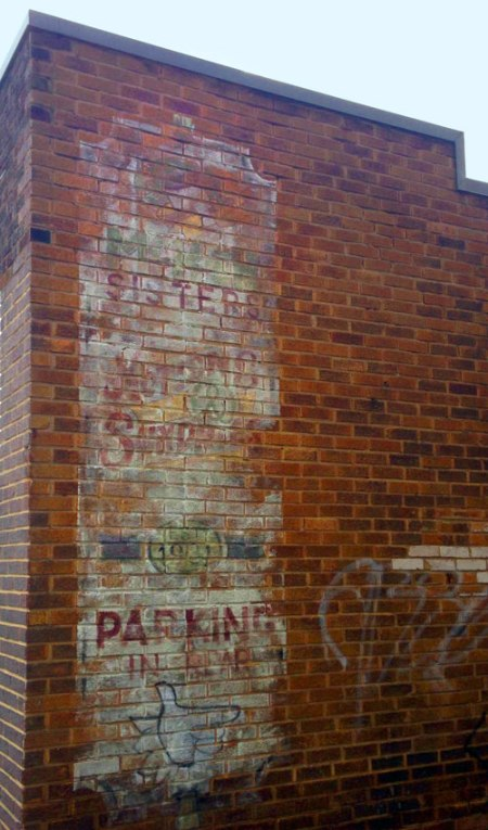 Parking in Rear Ghost Sign in Indianapolis