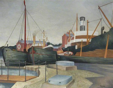 Harbour Scene by John Northcote Nash