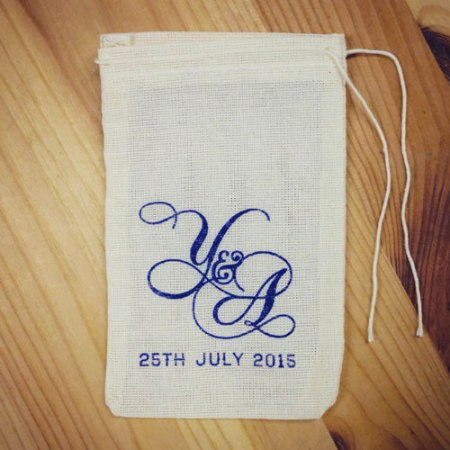 Custom Favor Pouches by VisuaLingual