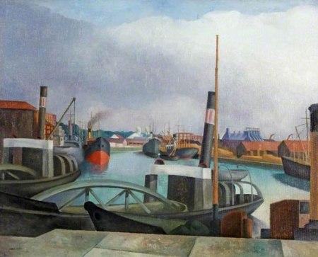 The Dredgers, Bristol Docks by John Northcote Nash