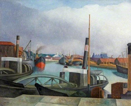 The Dredgers, Bristol Docks by John Northcote Nash